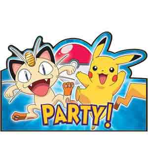 Pikachu and Friends Invitations 8ct