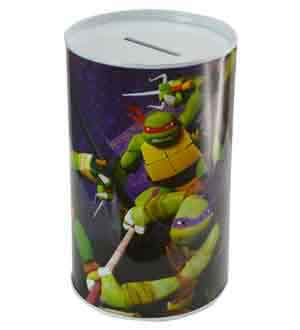 TMNT Ninja Turtle Metal Coin Container