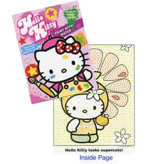 Hello Kitty Paint Watercolor Book 32pgs